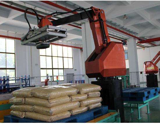 水泥厂码垛机器人系统